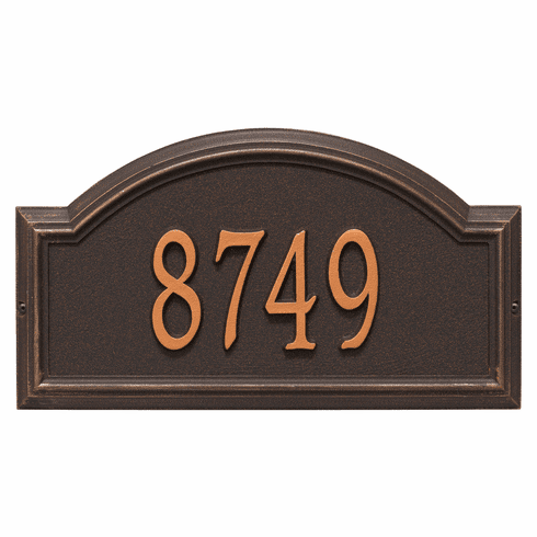 Providence Arch Standard Wall One Line Plaque in Oil Rubbed Bronze