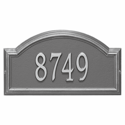 Providence Arch Standard Wall One Line Plaque in Pewter and Silver