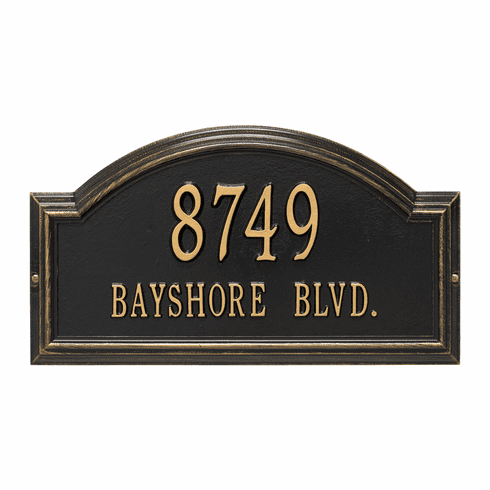 Providence Arch Standard Wall Two Line Plaque in Black and Gold