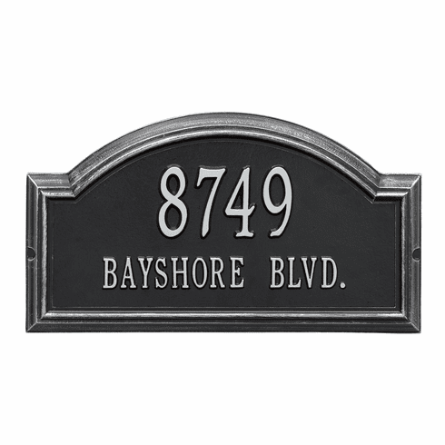 Providence Arch Standard Wall Two Line Plaque in Black and Silver
