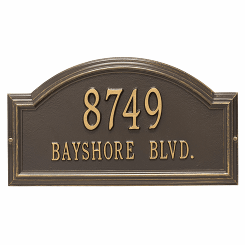 Providence Arch Standard Wall Two Line Plaque in Bronze and Gold