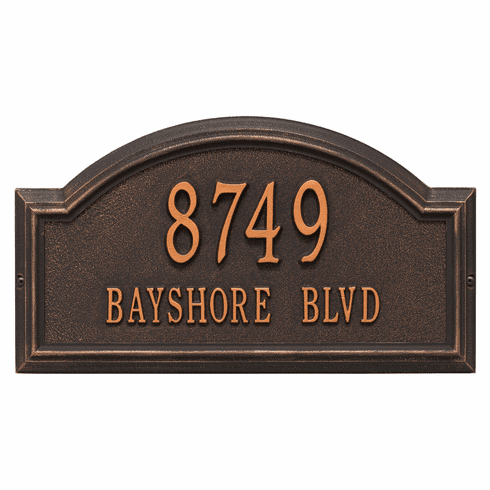 Providence Arch Standard Wall Two Line Plaque in Oil Rubbed Bronze