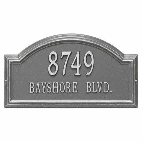 Providence Arch Standard Wall Two Line Plaque in Pewter and Silver