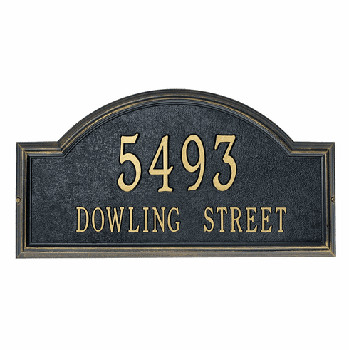 Providence Arch Street Name & Number Address Marker - Rustic Address Plaque