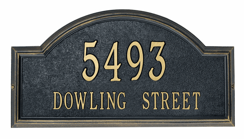 Providence Arch Street Name & Number Plaque - Small Home or Office Plaque
