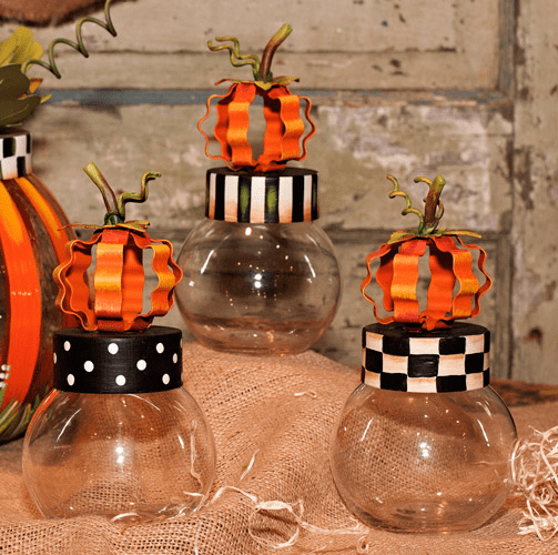 Pumpkin Jars Small - 3 assorted