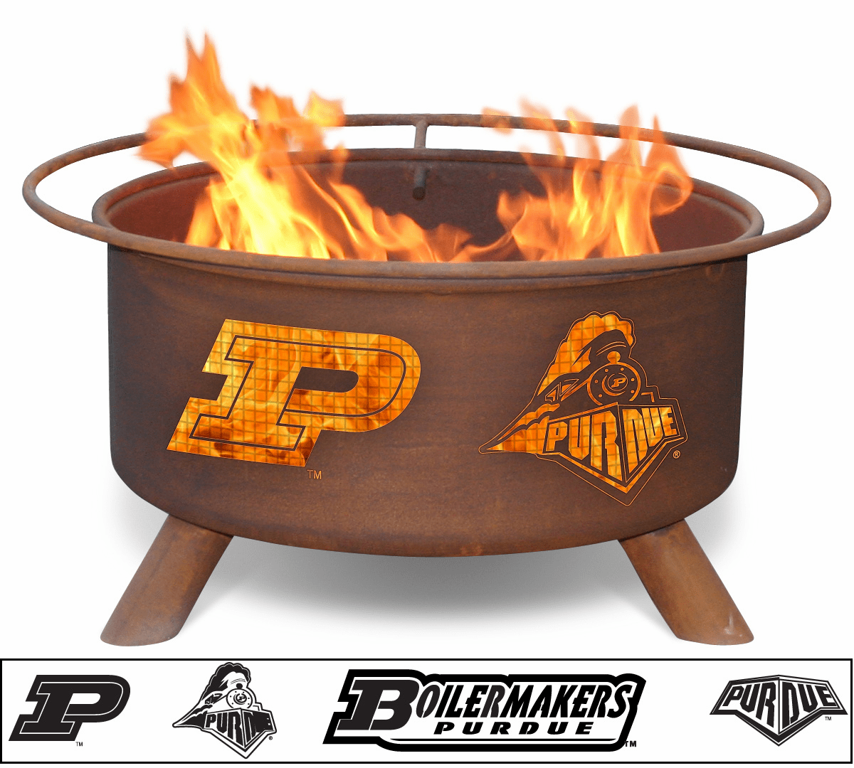 Purdue Boilermakers Logo Custom Fire Pit