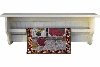 Quilt and Towel Rack Shelves