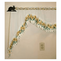 Rabbit Curtain Rod Holder Pair