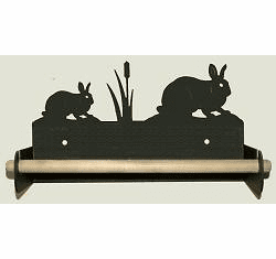Rabbit Paper Towel Holder With Wood Bar