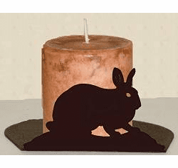 Rabbit Silhouette Candle Holder