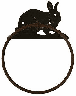 Rabbit Towel Ring