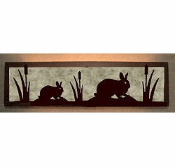 Rabbit Valance Style Bath Vanity Light