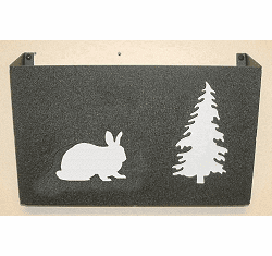 Rabbit Wall Mount Magazine Rack