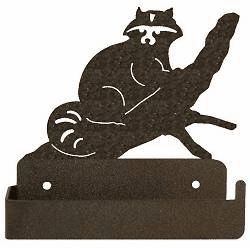 Raccoon One Piece Toilet Paper Holder