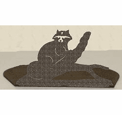 Raccoon Silhouette Candle Holder