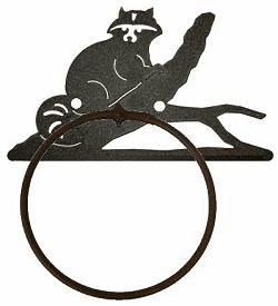 Raccoon Towel Ring