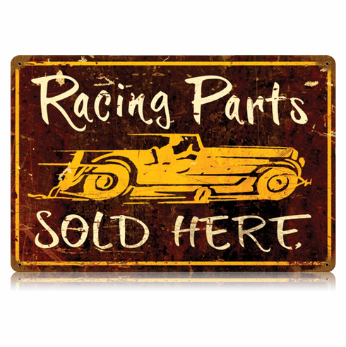 Racing Parts Sign - Parts Sold Here