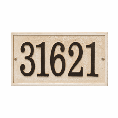 Rectangle House Numbers Plaque, Standard Wall 1-line