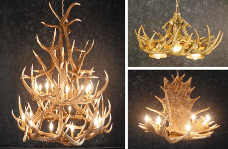 Replica - Cast Antler Chandeliers & More
