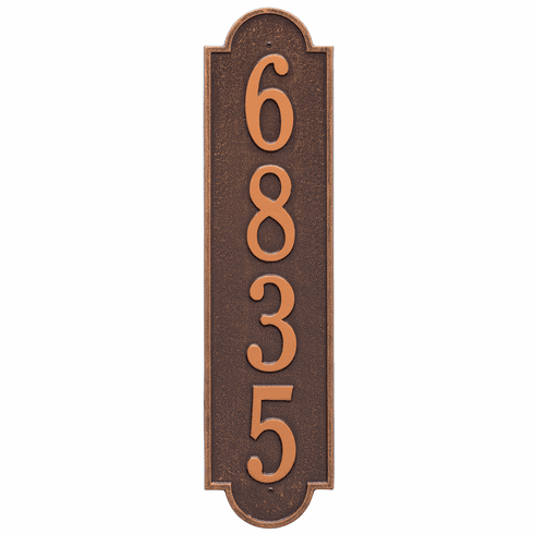 Richmond Vertical Estate Wall One Line Plaque in Antique Copper