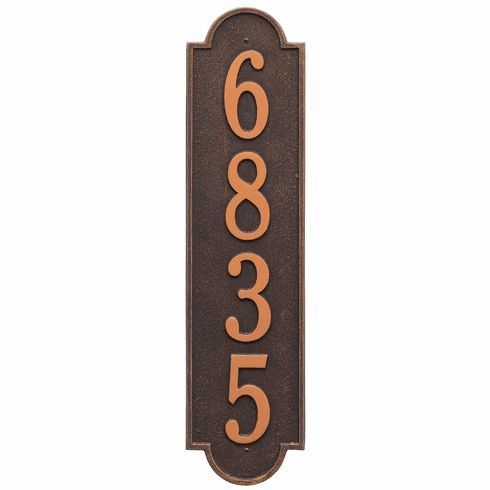 Richmond Vertical Estate Wall One Line Plaque in Oil Rubbed Bronze