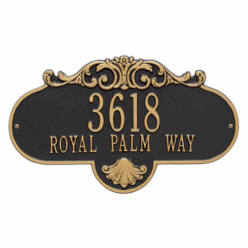 Rochelle Grande Wall Two Line Plaque in Black and Gold