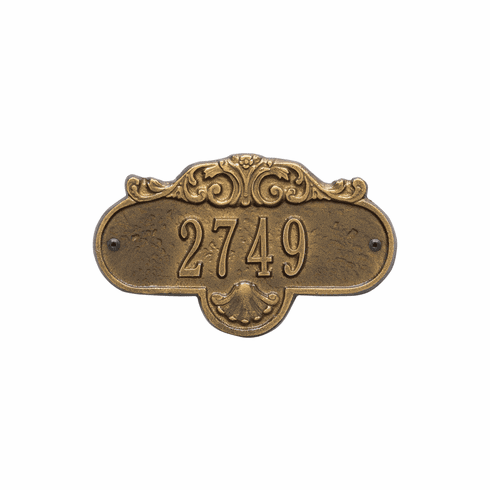 Rochelle Petite Wall One Line Plaque in Antique Brass