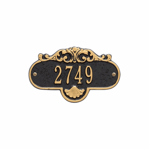 Rochelle Petite Wall One Line Plaque in Black and Gold