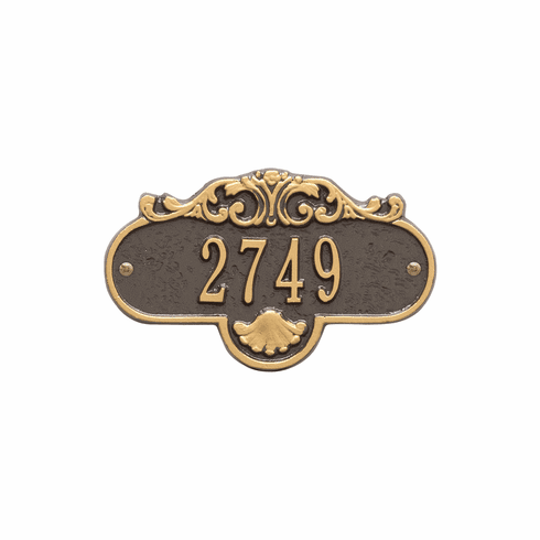 Rochelle Petite Wall One Line Plaque in Bronze and Gold