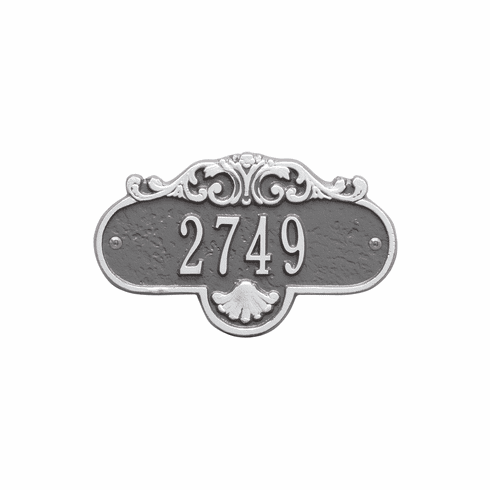 Rochelle Petite Wall One Line Plaque in Pewter and Silver