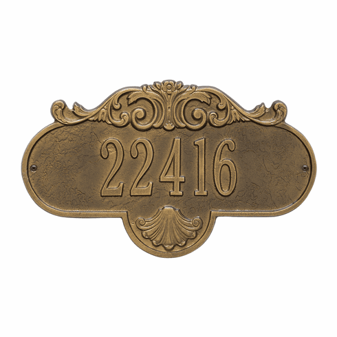 Rochelle Standard Wall One Line Plaque in Antique Brass