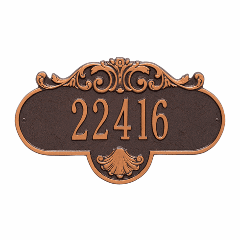 Rochelle Standard Wall One Line Plaque in Antique Copper