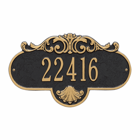 Rochelle Standard Wall One Line Plaque in Black and Gold