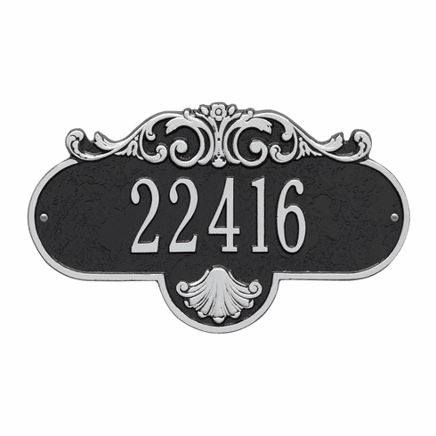 Rochelle Standard Wall One Line Plaque in Black and Silver