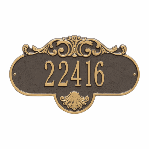 Rochelle Standard Wall One Line Plaque in Bronze and Gold