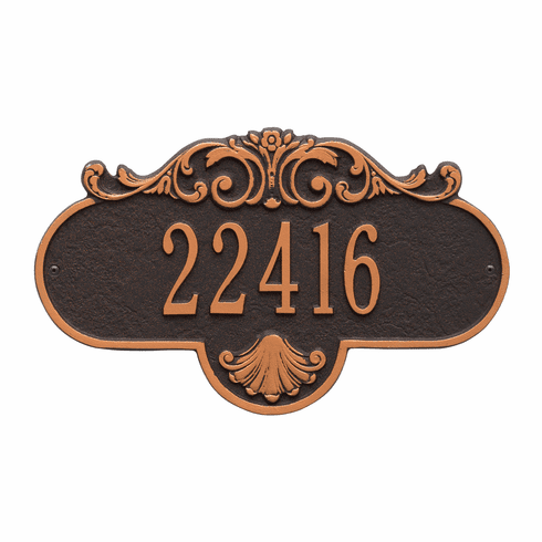 Rochelle Standard Wall One Line Plaque in Oil Rubbed Bronze