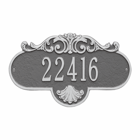 Rochelle Standard Wall One Line Plaque in Pewter and Silver