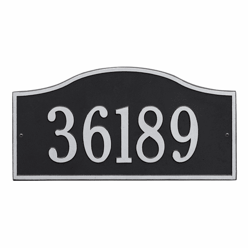 Rolling Hills Grand Wall One Line Plaque in Black and Silver