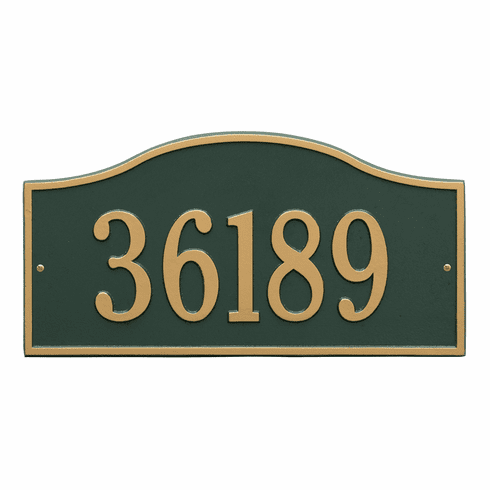 Rolling Hills Grand Wall One Line Plaque in Green and Gold