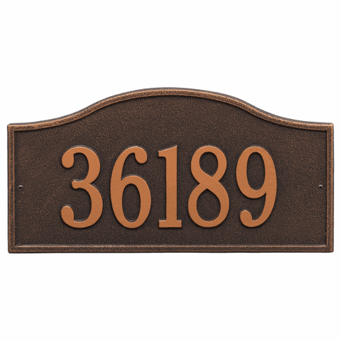 Rolling Hills Grand Wall One Line Plaque in Oil Rubbed Bronze