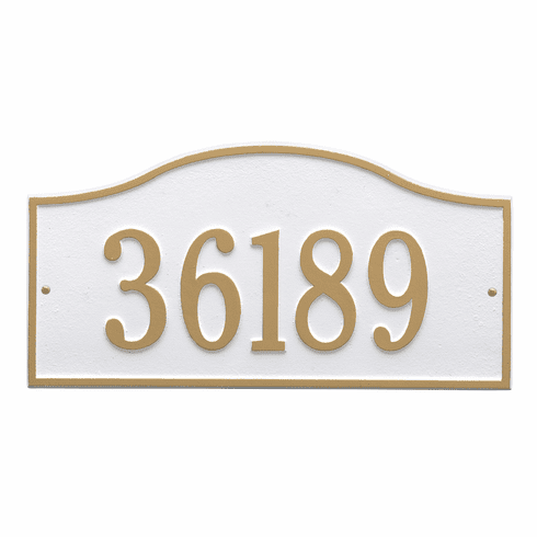 Rolling Hills Grand Wall One Line Plaque in White and Gold