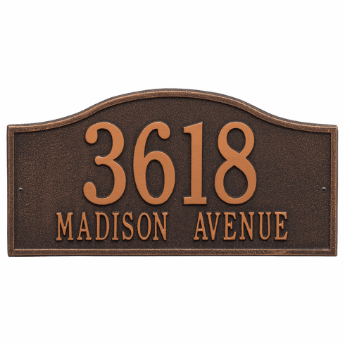 Rolling Hills Grand Wall Two Line Plaque in Oil Rubbed Bronze