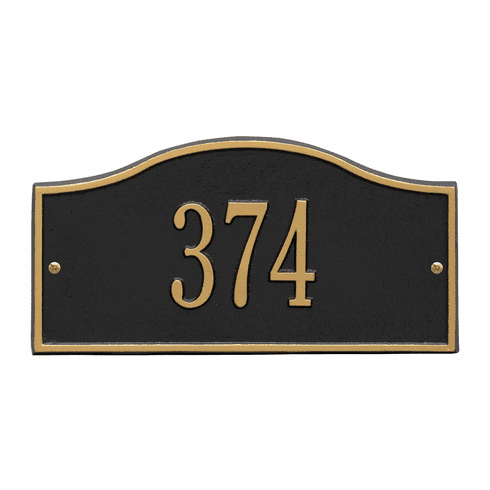 Rolling Hills Mini Wall One Line Plaques in Black and Gold