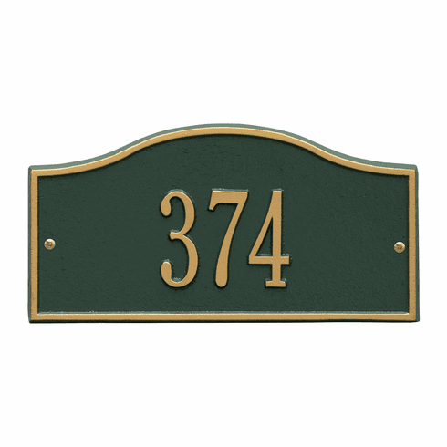 Rolling Hills Mini Wall One Line Plaques in Green and Gold