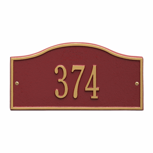 Rolling Hills Mini Wall One Line Plaques in Red and Gold