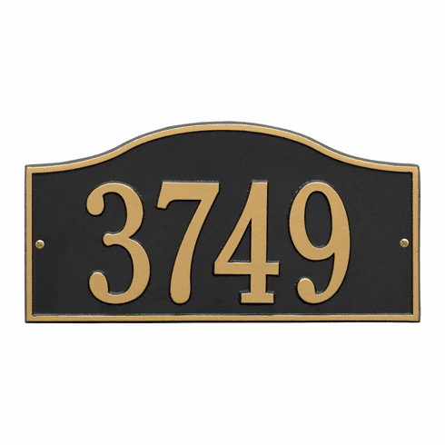 Rolling Hills Standard Wall One Line Plaque in Black and Gold