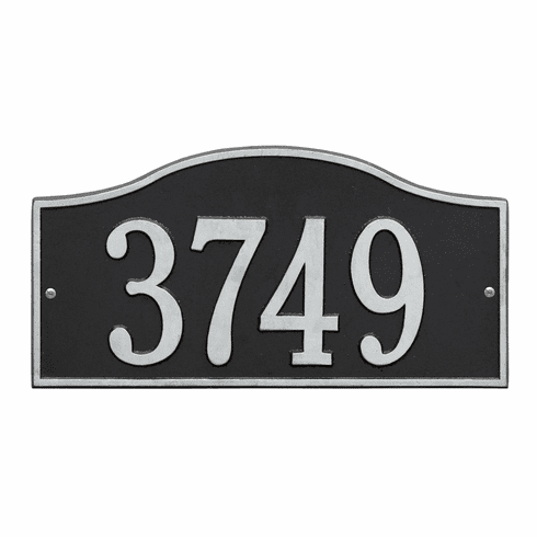 Rolling Hills Standard Wall One Line Plaque in Black and Silver
