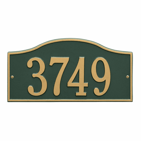 Rolling Hills Standard Wall One Line Plaque in Green and Gold
