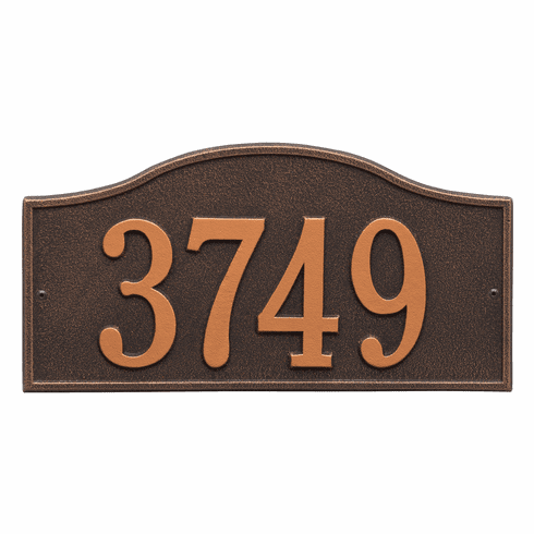 Rolling Hills Standard Wall One Line Plaque in Oil Rubbed Bronze